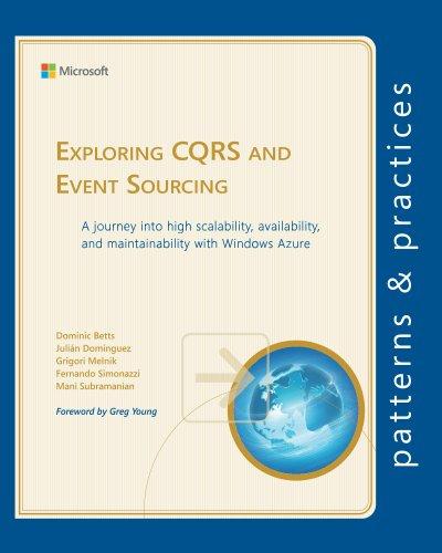 Exploring CQRS and Event Sourcing (Microsoft patterns & practices) - Julian Dominguez, Grigori Melnik, Fernando Simonazzi, Mani Subramanian